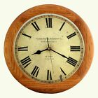 14-inch Finest Round OAK Solid Wood Quality Quartz Wall Clock, Home Decor