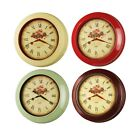 17-inch Classic Rose Large Vintage Style Quality Thick Heavy Metal Wall Clock