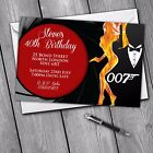 James Bond 30th 40th 50th 60th Invitations Personalised Birthday Party Invites £30.99 GBP on eBay