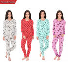 Womens Long Sleeve Printed Casual 2 Piece Pajama Set Sleepwear