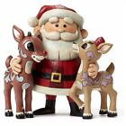 Enesco Jim Shore Rudolph the Red Nosed Reindeer Clarice and Santa Christmas  ...