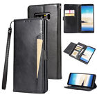 Crazy Horse Pattern Magnetic Flip Leather Wallet Card Cover For Samsung iPhone