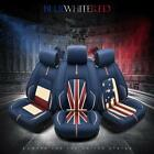 Car 5-Seats Cover Leather Auto Pad Mat Breathable Flag Front+ Rear Cushion Set