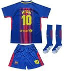 Barcelona #10 Lionel MESSI Home Kids Soccer Jersey Shorts Socks Youth Sizes