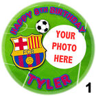 Barcelona Personalised Circle Icing Sheet Cake Topper - 3 Sizes options