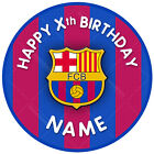 Barcelona Cake Topper, Circle, Personalised, Icing Sheet