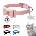 Personalised Cat Collar & ID Tag set with Bell for Kitty Kitten Free Engraving