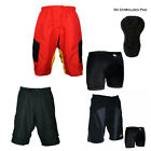 Men's MTB Cycling Mountain Bike Baggy Loose Fit Plus 3D Coolmax Padded Underwear