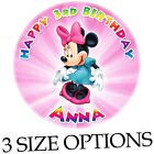 Minnie Mouse edible photo on icing round birthday cake topper