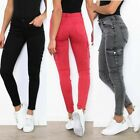 Women's Ladies Cargo skinny stretch Jeans Trousers 3 colours UK sizes 6 - 14