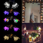 1.2M  LED Hanging Photo Clips Pegs String Light Card Picture Lamp Indoor Decor