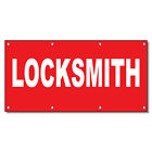 Locksmith Red Background 13 Oz Vinyl Banner Sign With Gro...