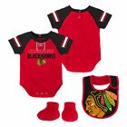 Chicago Blackhawks NHL Infant Creeper, Bib & Bootie $26.99 USD on eBay