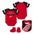 Detroit Red Wings NHL Infant Creeper, Bib & Bootie $26.99 USD on eBay