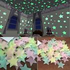 MAGIC 100x Stars Light up Sky Glow Wall Sticker Bedroom Decal Decor 3D Luminous