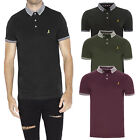 Brave Soul GloverB Mens Casual Short Sleeved Polo Shirt Contrast Collar Tee Top