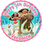 Disney's Moana personalised round edible icing cake topper