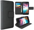 For ZTE Blade Z Max / Sequoia Z982 Leather Wallet Flip Case Pouch Cover w/ Strap