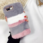 Fuzzy Luxury Phone Cover Fur Furry Protective Case For Apple iPhone 7 8 Plus 6s