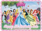 Disney Princess Rectangle Shaped Edible Icing Birthday Cake Topper