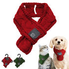 Christmas Hand Knit Dog Collar Scarf Winter Warm for S L Dog Cat Puppy Xmas Gift