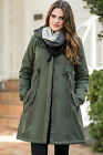 La Redoute Khaki Green Empire Line A-Line Casual Parka Coat Jacket  Sizes 8 - 22