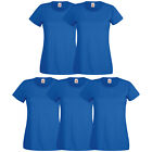 5er Fruit of the Loom T-Shirt Damen Shirts Valueweight Sets Tshirt S - XXL