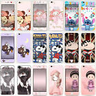 Glitter Cartoon Front Back Tempered Glass Screen Protector For iPhone 6s 7 Plus