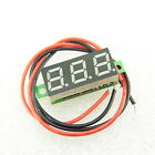 "5-30V DC 0.28"" Mini LED Panel Voltmeter Green 2 Wire Conn. Digital Voltage Meter"