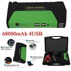 LOT 1~15X 68000mAh 4USB Car Jump Starter Emergency Charger Power Bank Battery X4