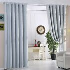 Thermal RING TOP EYELET Blackout PAIR Curtains Ready Made LUXURY FAUX SILK