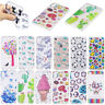 For iPhone 6 6S 7 8 Plus X Thin Clear Soft TPU Gel Pattern Back Case Cover Skin
