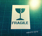 Fragile reusable STENCIL / Packaging warning sign handle with care / Not a decal