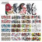 1 Sheets Nail Art Water Decals Skull Halloween Manicure Transfer Stickers Lot