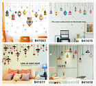 Colorful Old Lamps Home Room Decor Removable Wall Stickers Decals Wandbilde