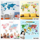 English World Map Home Room Decor Removable Wall Stickers Decals Wandbilde