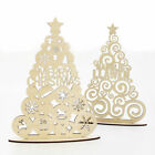 Ornate Welsh Christmas Laser Cut Tree - Bauble Curly, Wood Acrylic Coloured Xmas