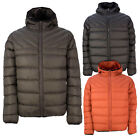 Soulstar Mens Crucio Designer Hooded Jacket Contrast Panel Puffer Quilted Coat