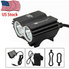 SolarStorm Rechargeable 6000Lm 2x T6 LED Front Bicycle Lamp Bike Light Head