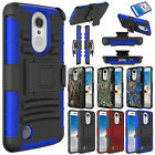 Hybrid Shockproof Holster Clip Stand TPU Case Cover For LG Aristo/K8 2017 /MS210