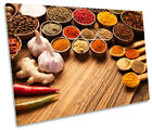 Indian Curry Spices Herbs Print CANVAS WALL ART Picture Framed