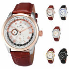 KS Automatic Roman 5 Colors Day 24Hrs Leather Band Watch Mechanical Men's Gift