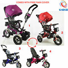 High Quality 4 in1 Kids Children Baby Trike Tricycle 3 Wheel Ride Bike XMAS Gift