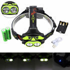Rechargeable 10000LM 2x XM-L T6 LED Head lamp Headlight AA/18650 Torch Xmas Gift