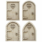 Fairy Doors Elf Pixie x4 - 3D Plywood Doors Indoor & Outdoor - Stronger then MDF