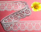 """White Lace Trim 13-26 Yards x 1-1/4"""" Scalloped R14V Added Trims ShipFree"""