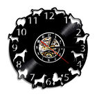 Dogs Pug Puppy Led Vinyl Wall Clock Light Color Change Home Decor Time Clock 12'