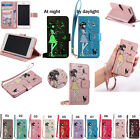 KT For Sony IPhone Strap Embossing Noctilucent Wallet Card Leather Case Cover