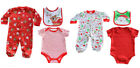 New Infants Babies Soft Touch Festive Christmas *3 Piece Set* 100% Cotton Outfit