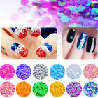 12 Color Pots Glitter Nail Flash Magic Mermaid Sequins Discoloration Nail Decor